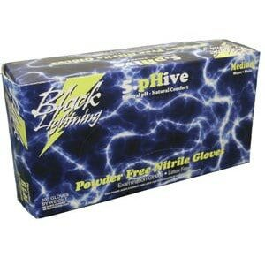 Black Lightning Powder & Latex Free Nitrile Gloves - XL